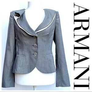 Armani Collezioni | Wool-Silk Blend blazer